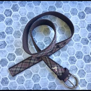 American Eagle outfitters brown pleaded belt